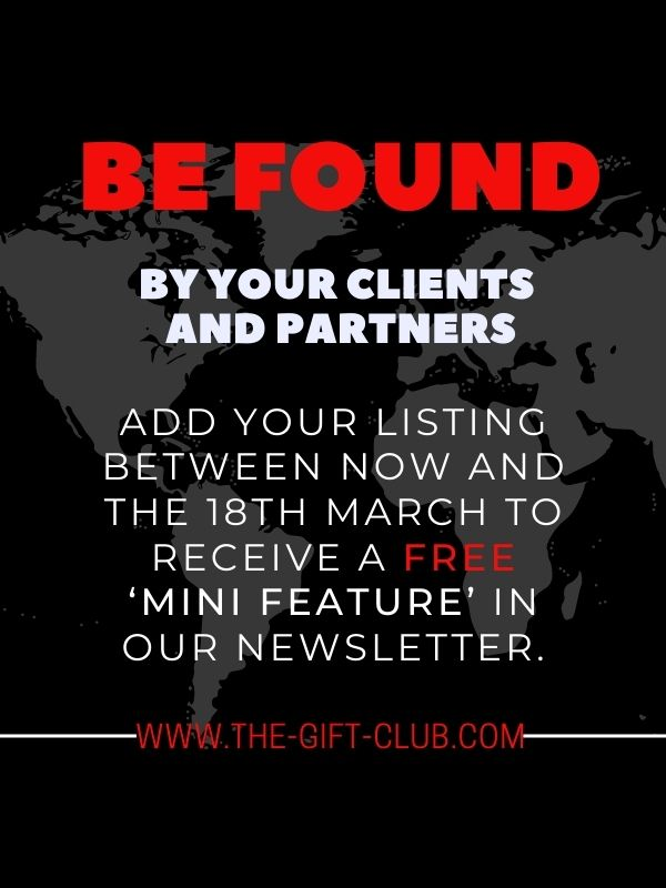 Have you Joined our Supplier Directory yet?Here are just some of the Benefits of Joining The Gift Club for a Small Yearly Fee