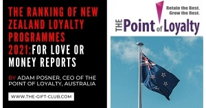 The Ranking of New Zealand Loyalty Programmes 2021: For Love or Money reports by Adam Posner, CEO of The Point of Loyalty Australia