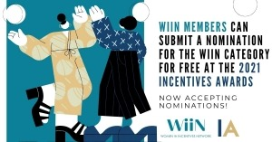 WiiN Members can Submit a Nomination for the WiiN Category for FREE at the 2021 Incentives Awards